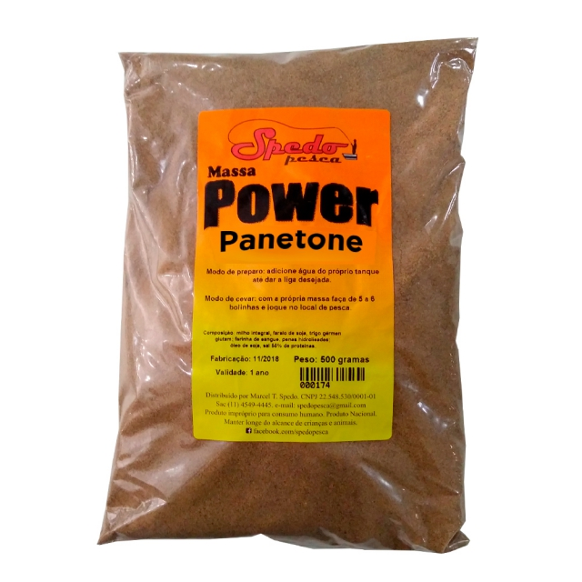 MASSA POWER PANETONE 500G SPEDO