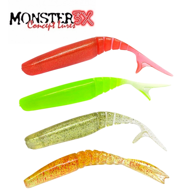 ISCA SOFT M-ACTION MONSTER 3X 10,5CM C/ 3 UNIDADES