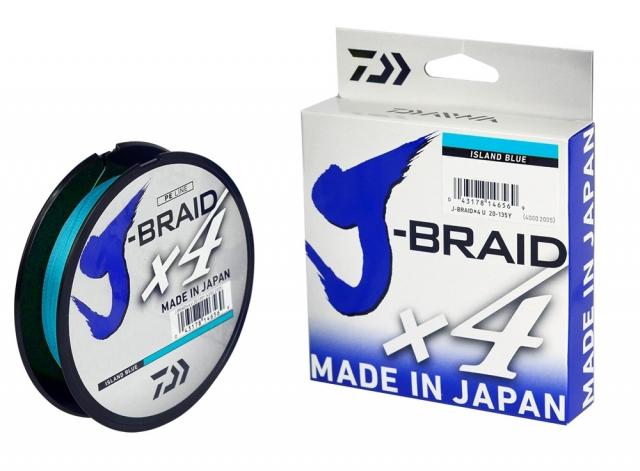 LINHA DAIWA J-BRAID X4 30LBS 0.25MM 270M BLUE
