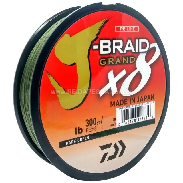LINHA DAIWA J-BRAID GRAND X8 20LB 270M