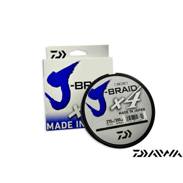 LINHA DAIWA J-BRAID X4 20LB 270M