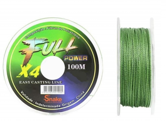 LINHA MULTIFILAMENTO SNAKE FULL POWER 96KG 0.80MM 100M