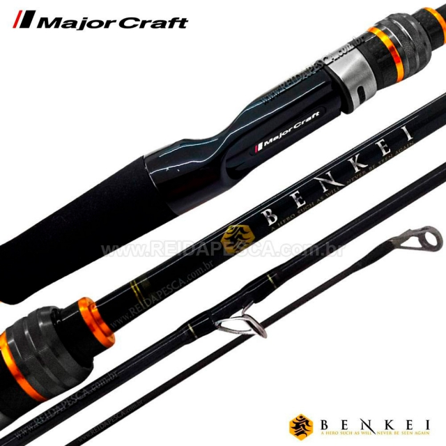 VARA BENKEI 6´6 10-16LBS P/MOLINETE 2 PARTES MAJOR CRAFT