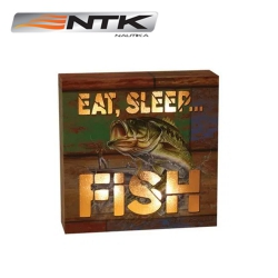 QUADRO DECORATIVO NAUTIKA 15CM EAT SLEEP FISH