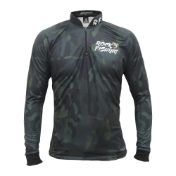CAMISA ROCK FISHING CAMOU BLACK MILITARY