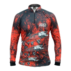 CAMISA ROCK FISHING SKULL RED
