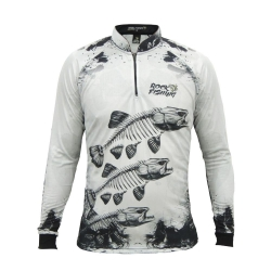 CAMISA ROCK FISHING SKULL WHITE