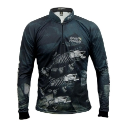 CAMISA ROCK FISHING SKULL BLACK