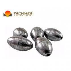 Chumbada tipo Oliva Technes 04 gramas c 05 unidades