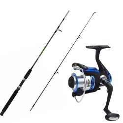 KIT VARA STAR RIVER ESCAPE 180 + MOLINETE TUME NAUTILUS 3400 FDS