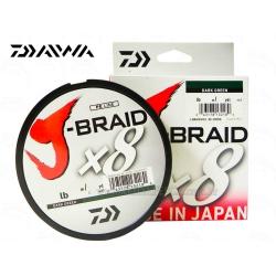 LINHA DAIWA J-BRAID X8 50LB 150M DARK GREEN