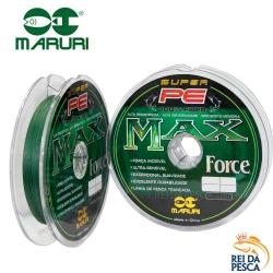LINHA MULTIFILAMENTO MARURI MAX FORCE SUPER PE 24LB 100M