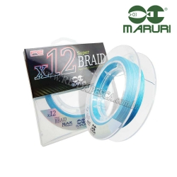 LINHA MULTIFILAMENTO MARURI X12 SUPER BRAID 0,27mm 55LB 150M