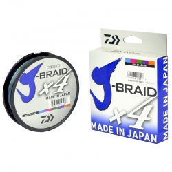 LINHA J-BRAID X4 40LB 300M 0.29MM MULTI COLOR