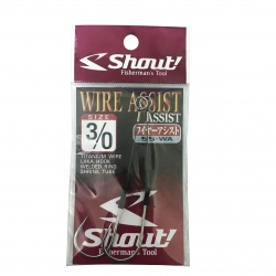 ANZOL SHOUT WIRE ASSIST HOOK 3/0