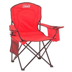 Cadeira Coleman Dobrável Com Cooler - Vermelho